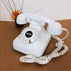 Vintage Style Rotary Cream Telephone